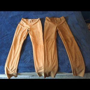 Ladies suede pants